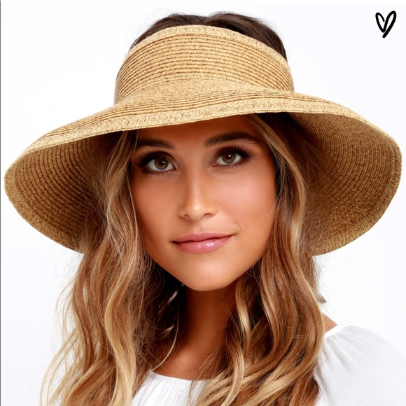 Lulu s Accessories - Straw visor hat a647c1e62ee